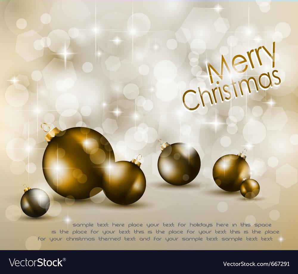 Merry christmas elegant vector | Price: 1 Credit (USD $1)