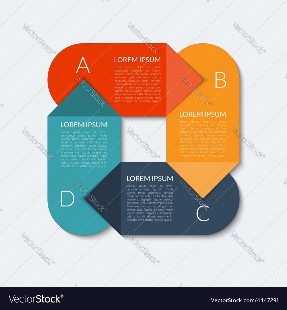 Modern arrow infographic banner vector | Price: 1 Credit (USD $1)