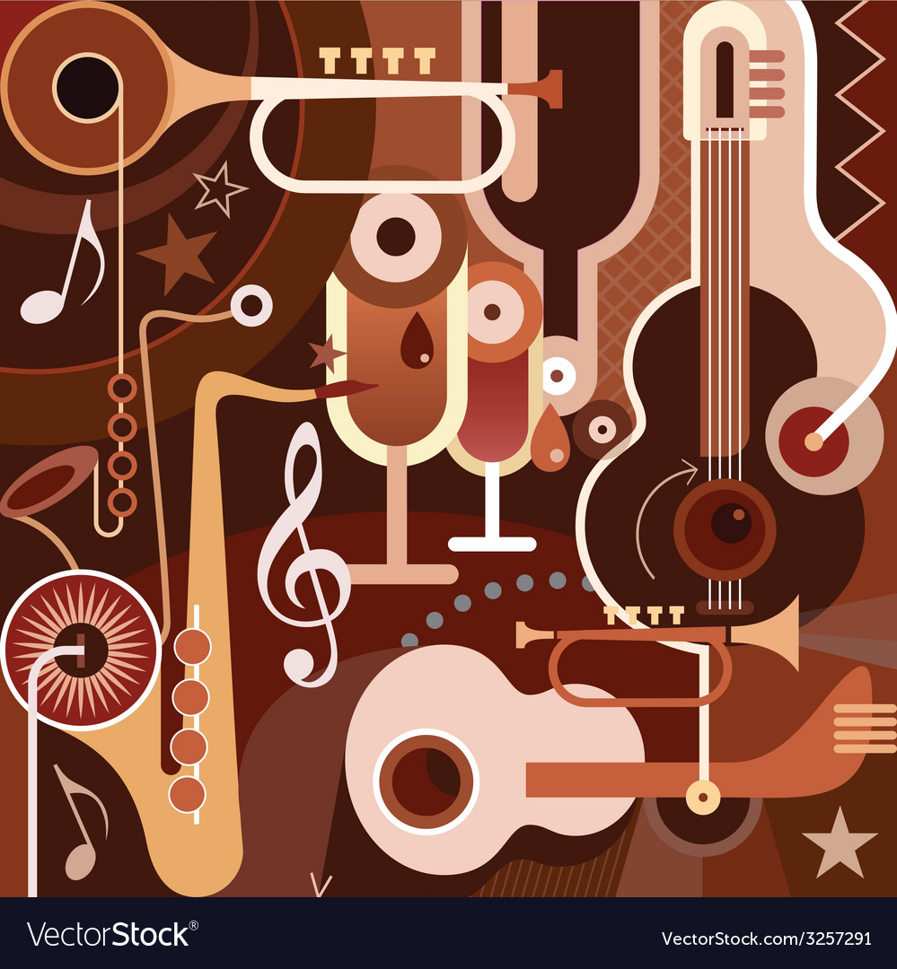 Musical collage vector | Price: 3 Credit (USD $3)