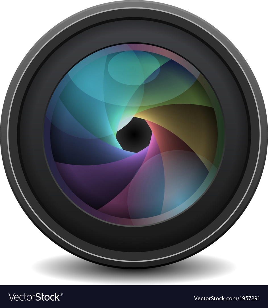 Photo lens isolated on white background vector | Price: 1 Credit (USD $1)