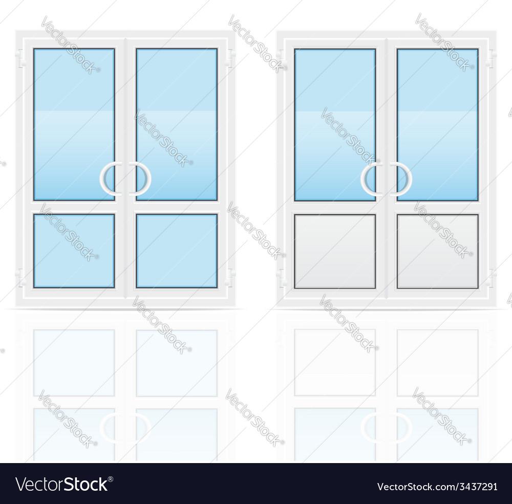 Plastic doors 03 vector | Price: 1 Credit (USD $1)