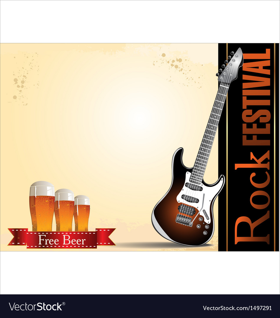 Rock festival free beer vector | Price: 1 Credit (USD $1)