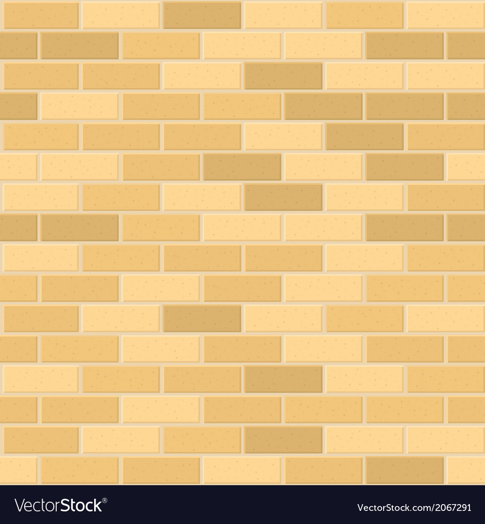 Seamless pattern of yellow brick with light seam vector | Price: 1 Credit (USD $1)