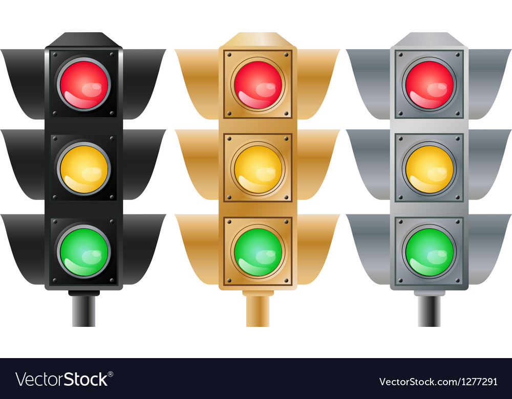 Set of stoplights vector | Price: 1 Credit (USD $1)