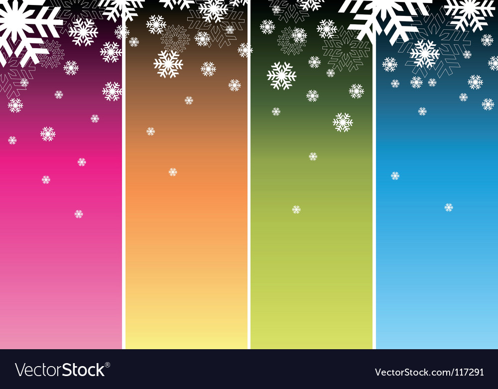 Slowly falling snowflakes vector | Price: 1 Credit (USD $1)