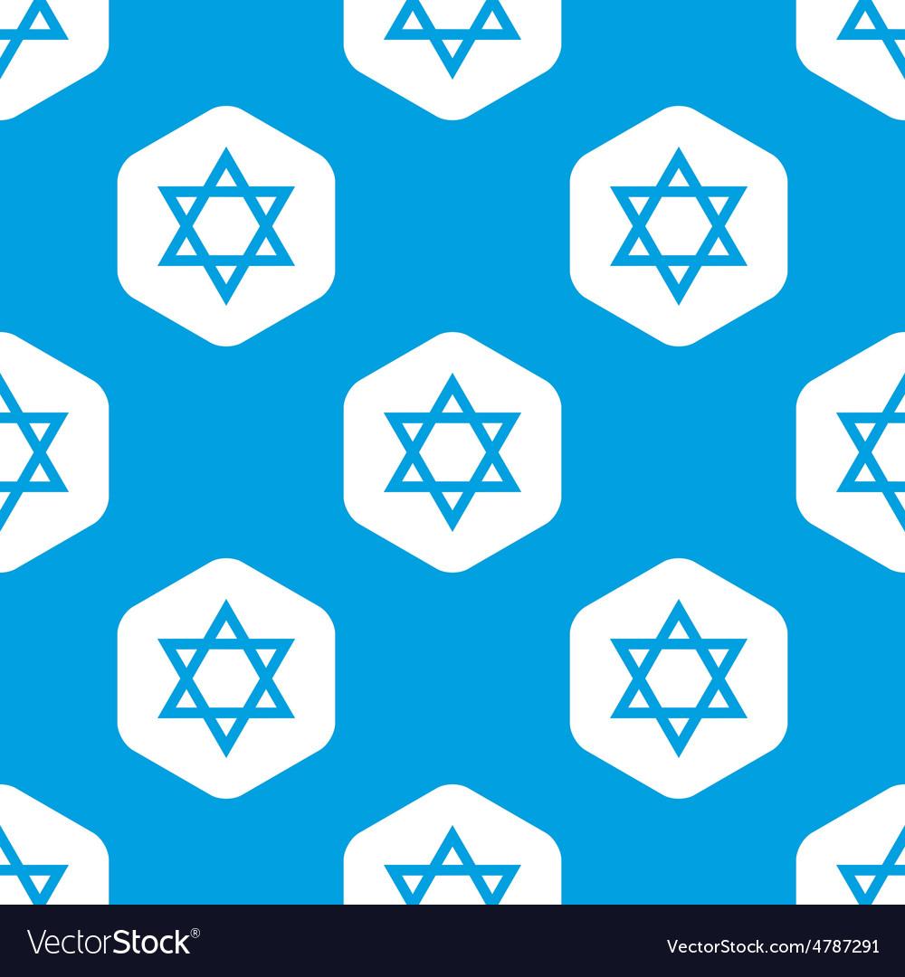 Star of david hexagon pattern vector | Price: 1 Credit (USD $1)