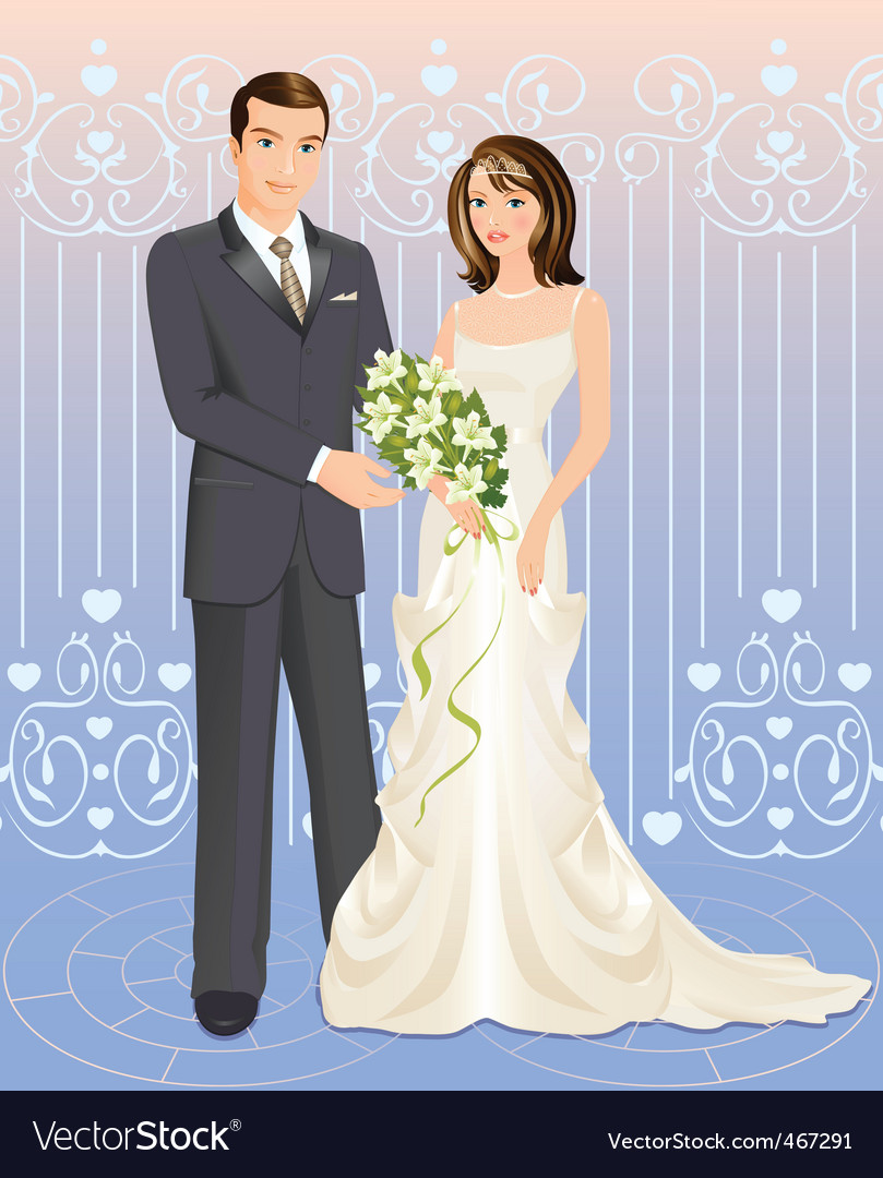 Wedding couple vector | Price: 3 Credit (USD $3)