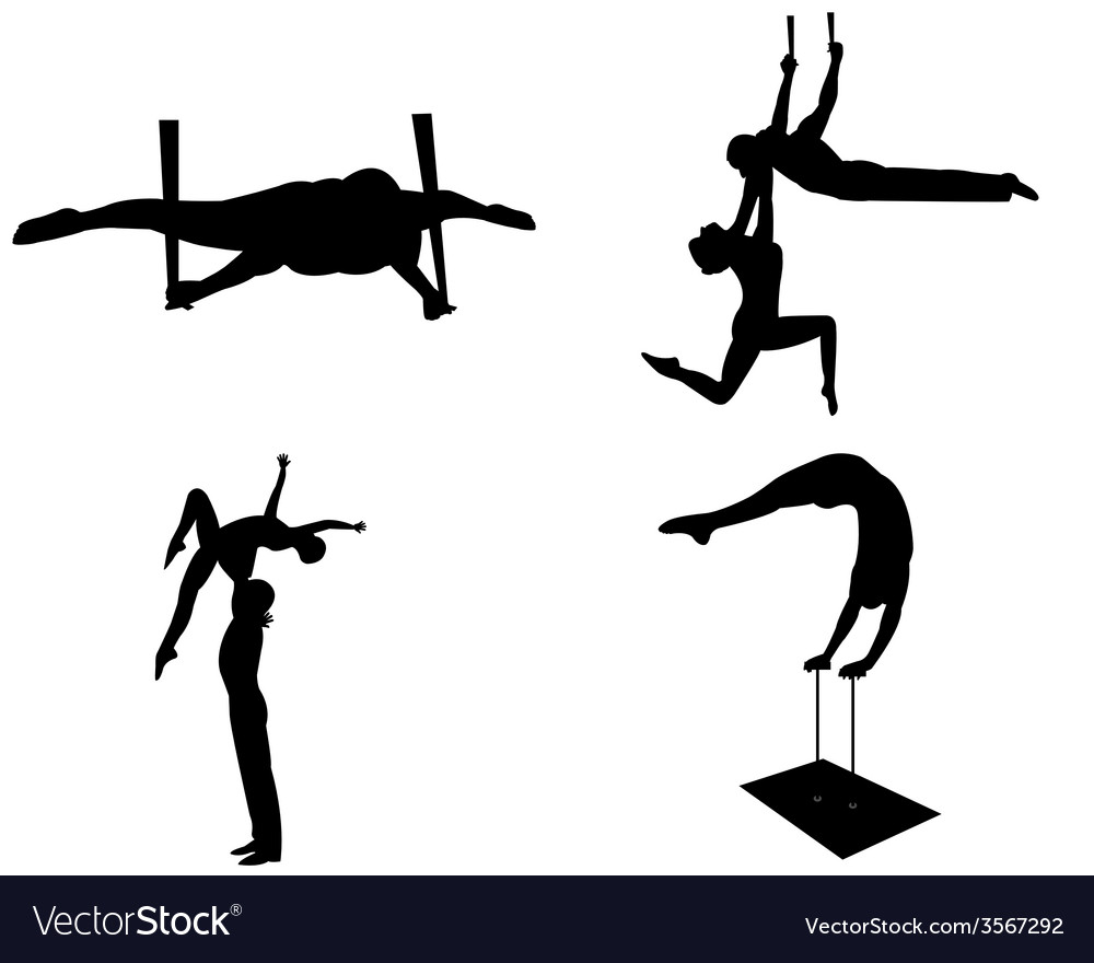 Aerialists vector | Price: 1 Credit (USD $1)