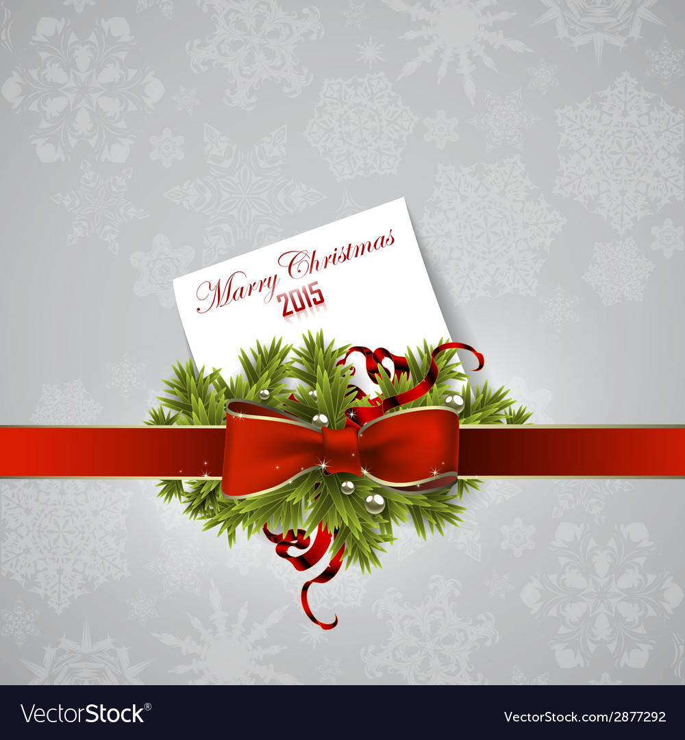 Christmas wreath design vector | Price: 1 Credit (USD $1)