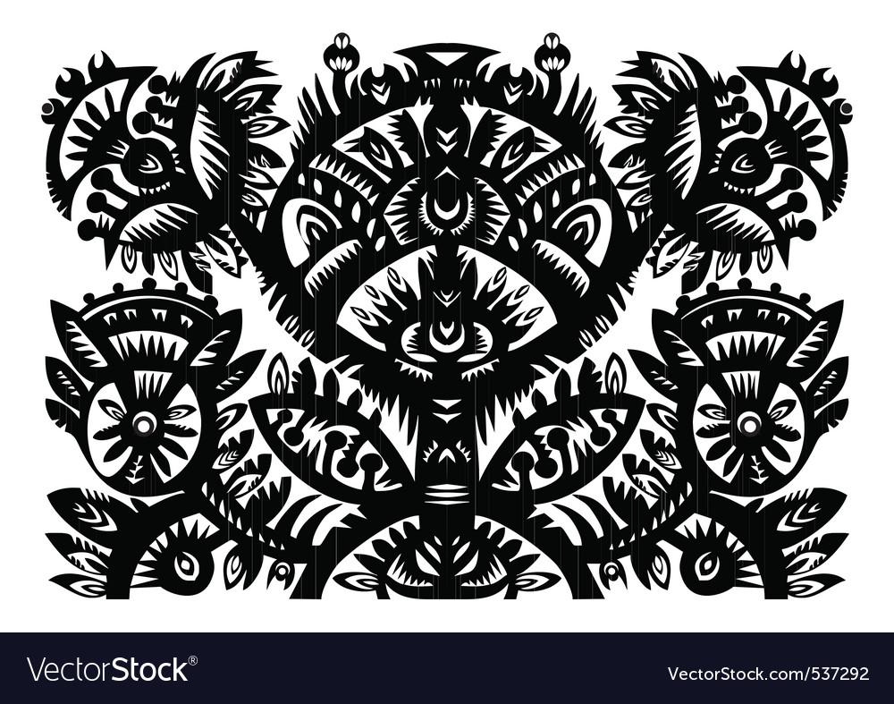 Decorative floral pattern vector | Price: 1 Credit (USD $1)