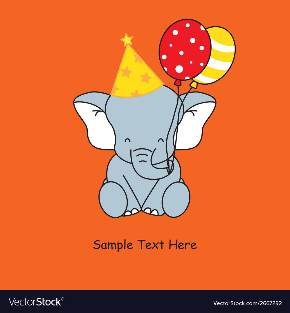 Elephant birthday vector | Price: 1 Credit (USD $1)