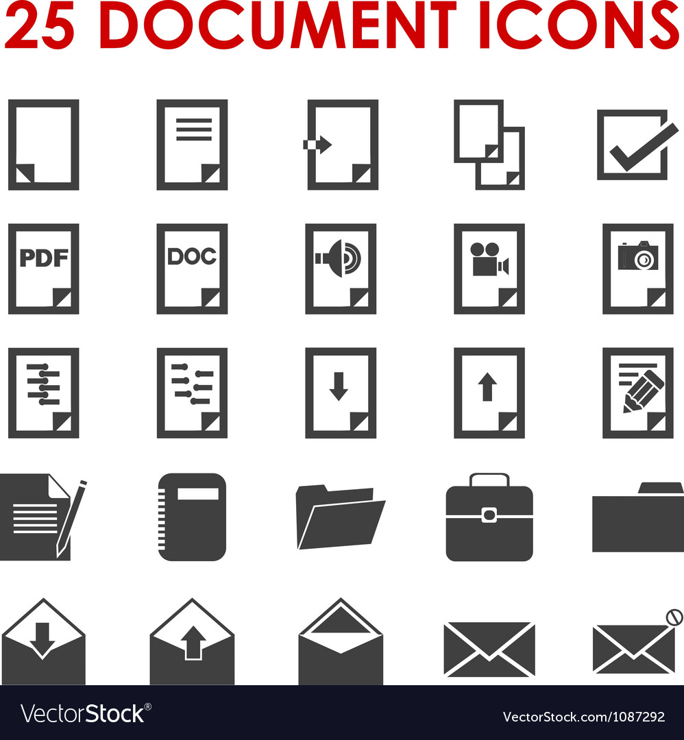File type and business icons vector | Price: 1 Credit (USD $1)