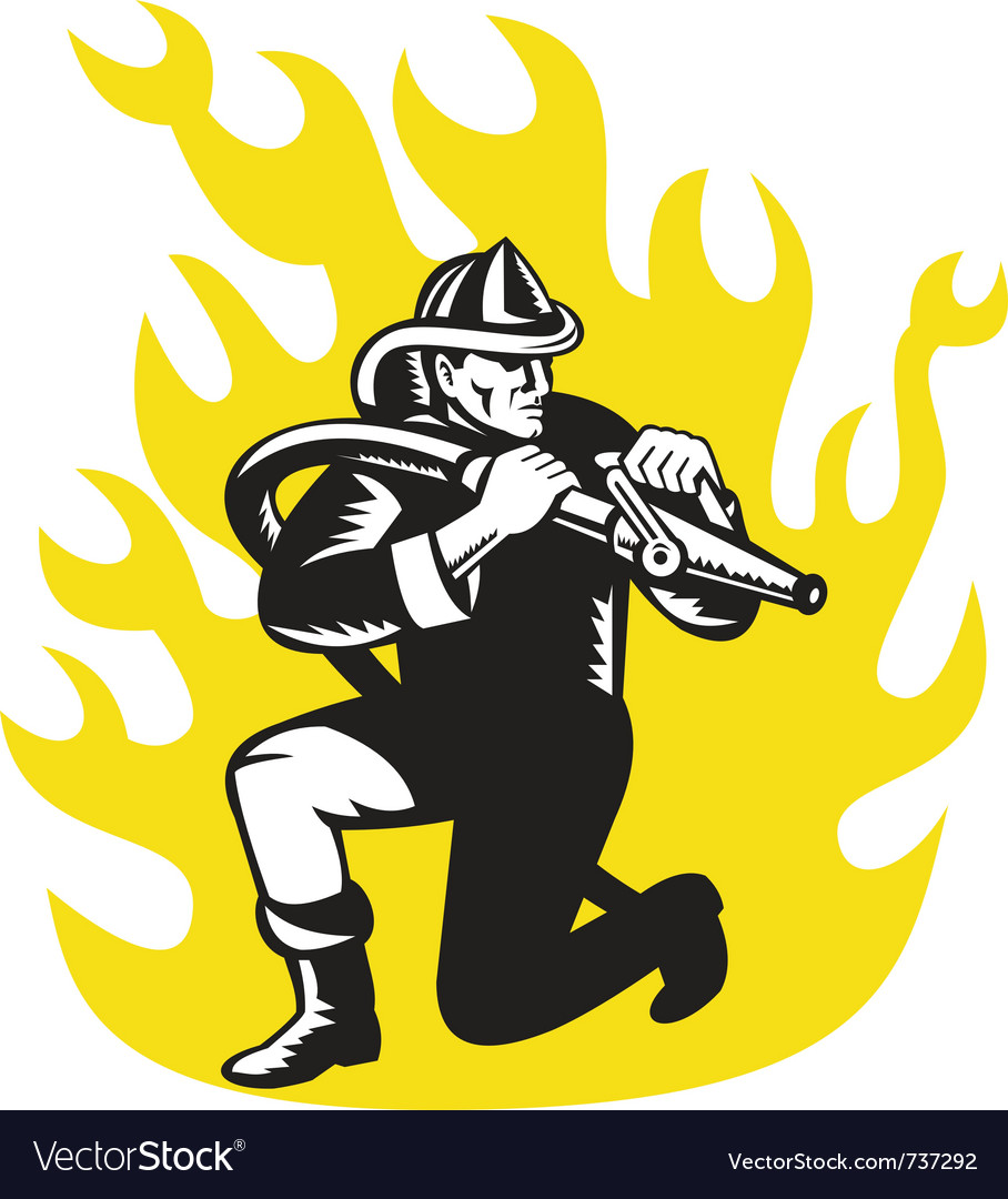 Fireman vector | Price: 1 Credit (USD $1)