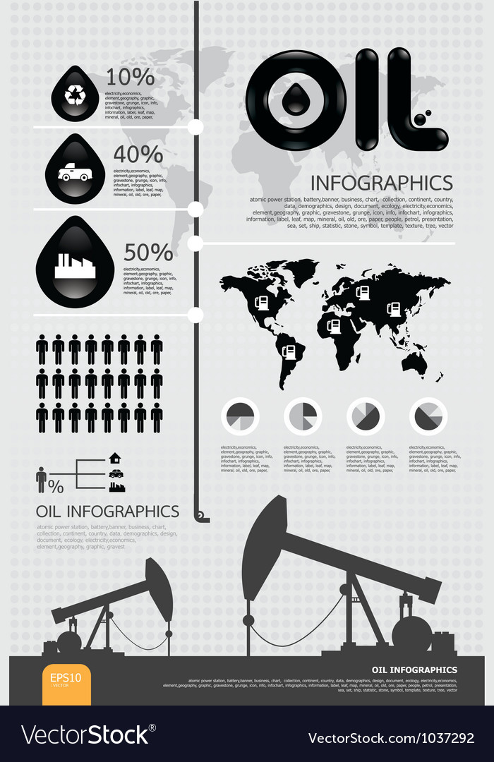 Infographic oil of the world vector | Price: 1 Credit (USD $1)