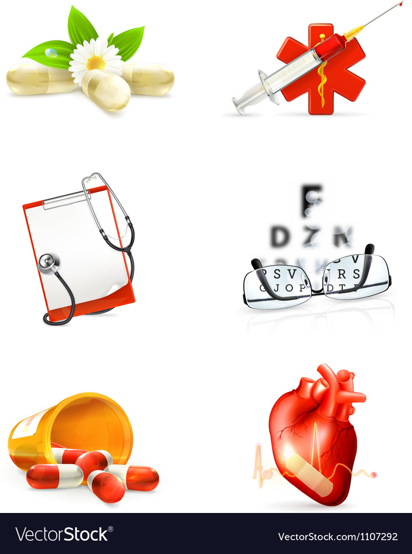 Medicine set of icons vector | Price: 3 Credit (USD $3)