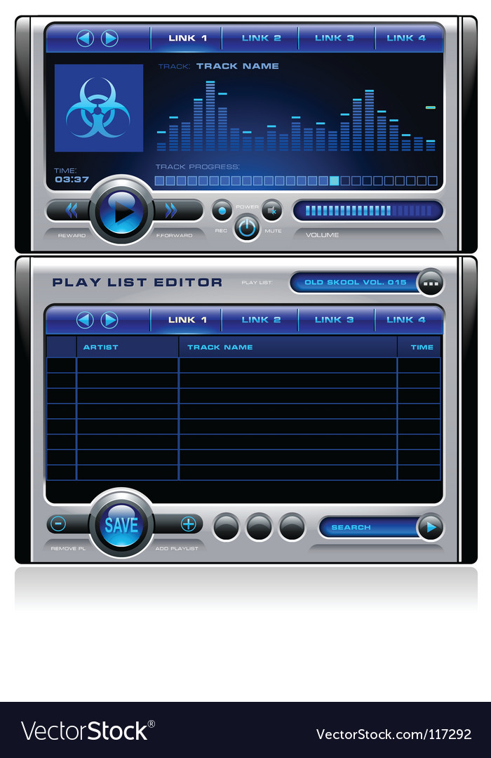 Mp3 media music player vector | Price: 1 Credit (USD $1)