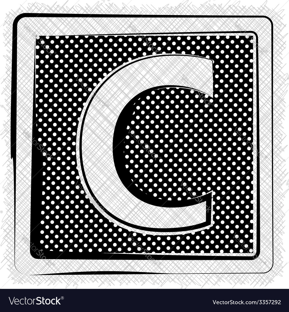 Polka dot font letter c vector | Price: 1 Credit (USD $1)