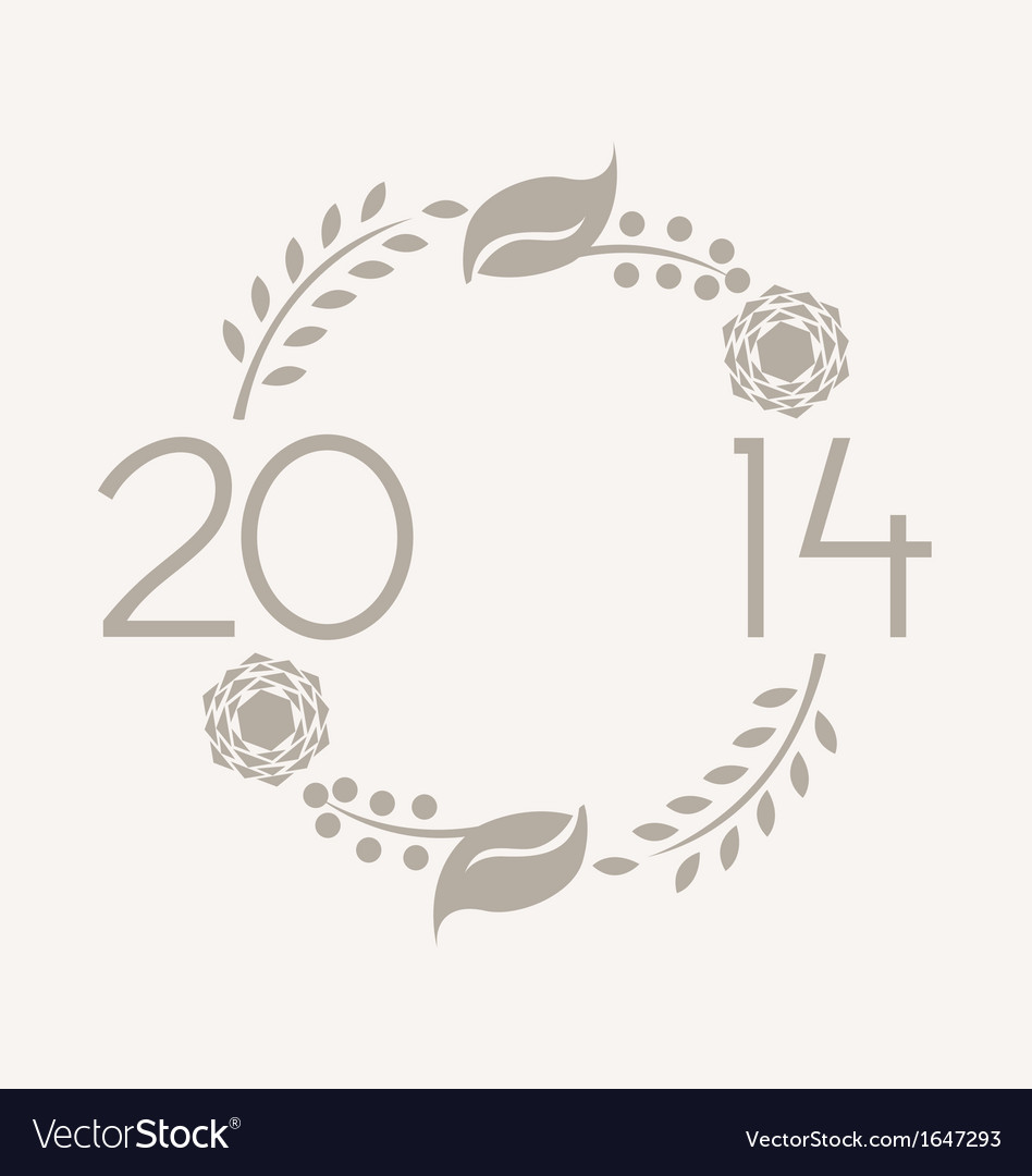 2014 wreath vector | Price: 1 Credit (USD $1)