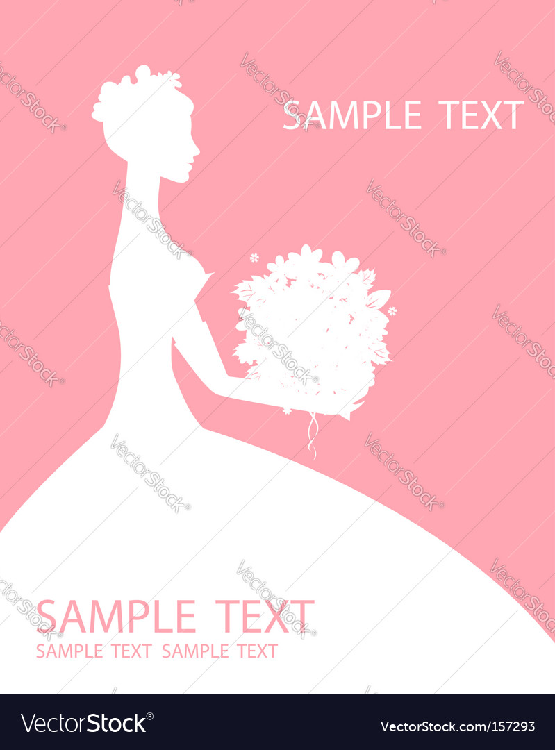 Bride beautiful with bouquet vector | Price: 1 Credit (USD $1)