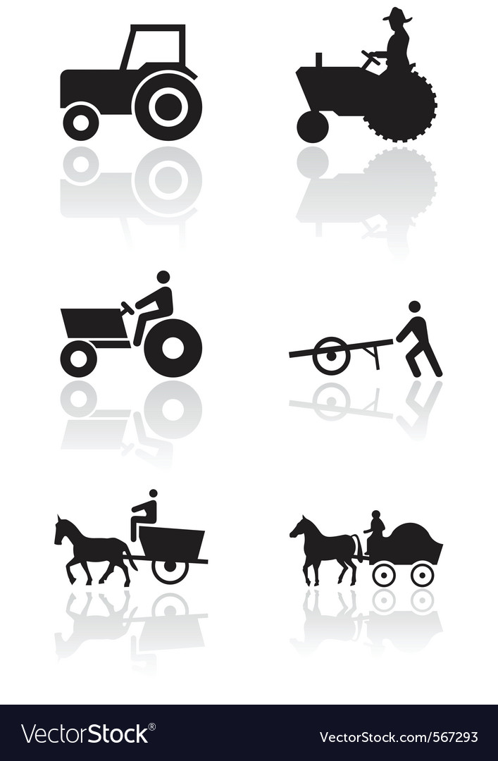 Farmer symbol set vector | Price: 1 Credit (USD $1)