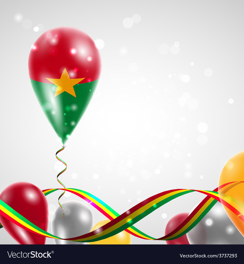 Flag of burkina faso on balloon vector | Price: 3 Credit (USD $3)