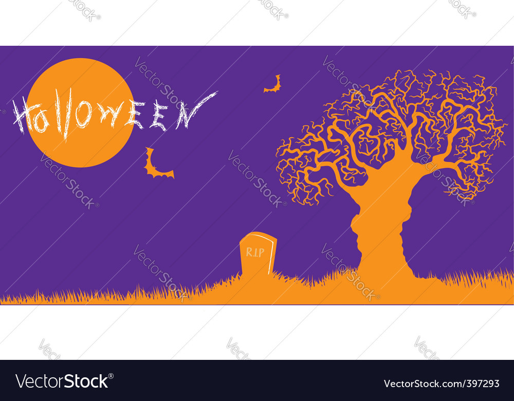 Halloween silhouette vector | Price: 1 Credit (USD $1)