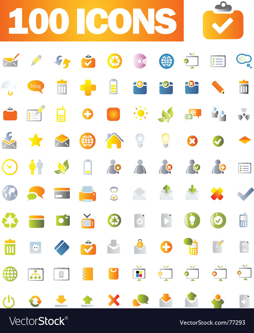 Icons set vector | Price: 1 Credit (USD $1)