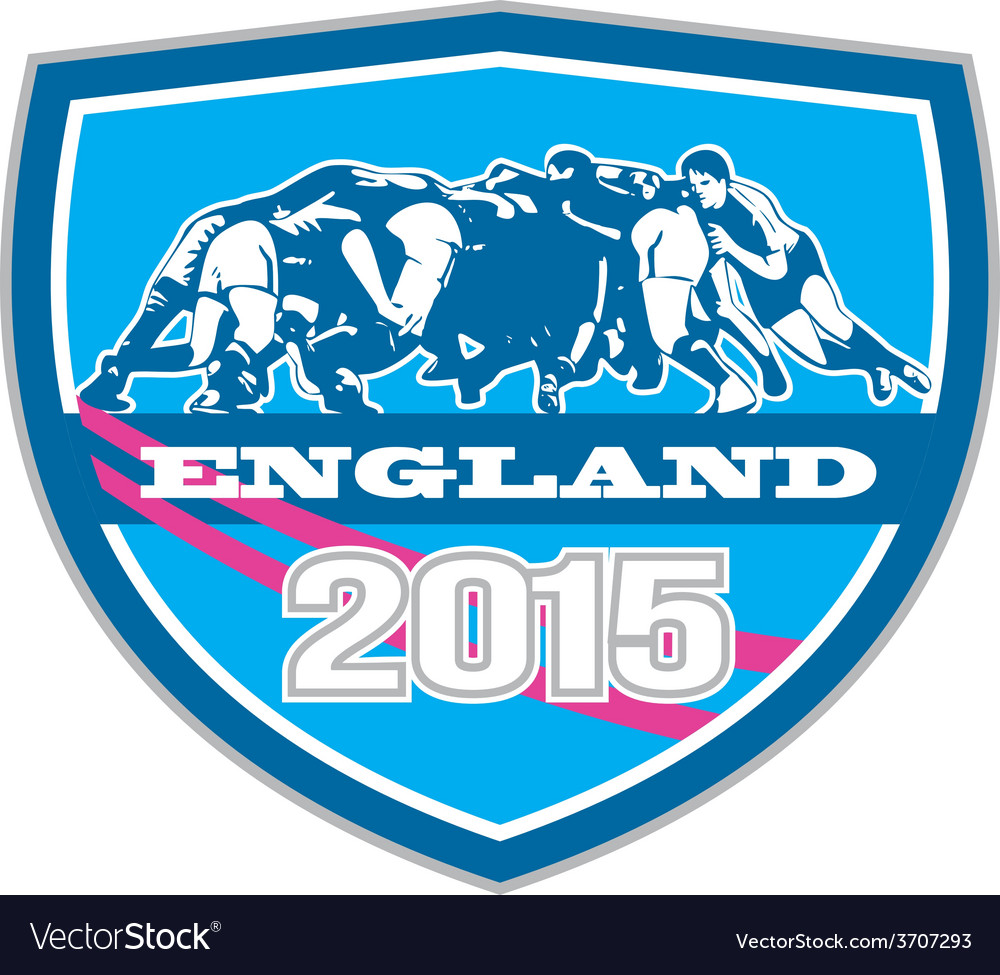 Rugby scrum england 2015 shield vector | Price: 1 Credit (USD $1)