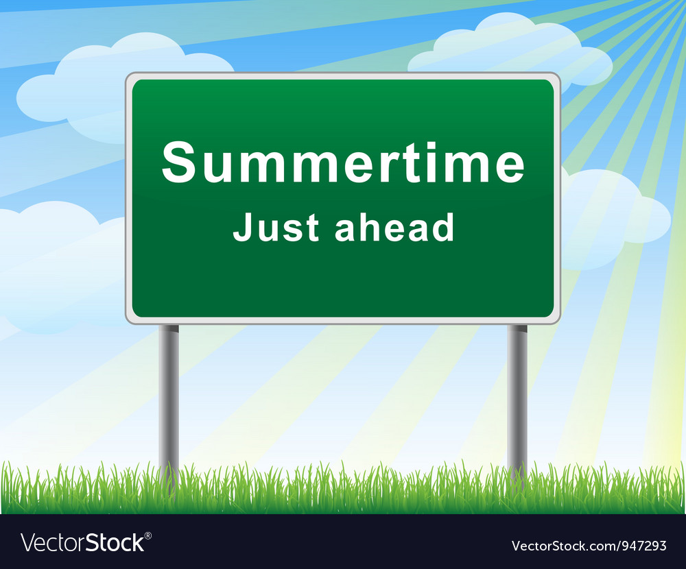 Summertime just ahead billboard vector | Price: 1 Credit (USD $1)