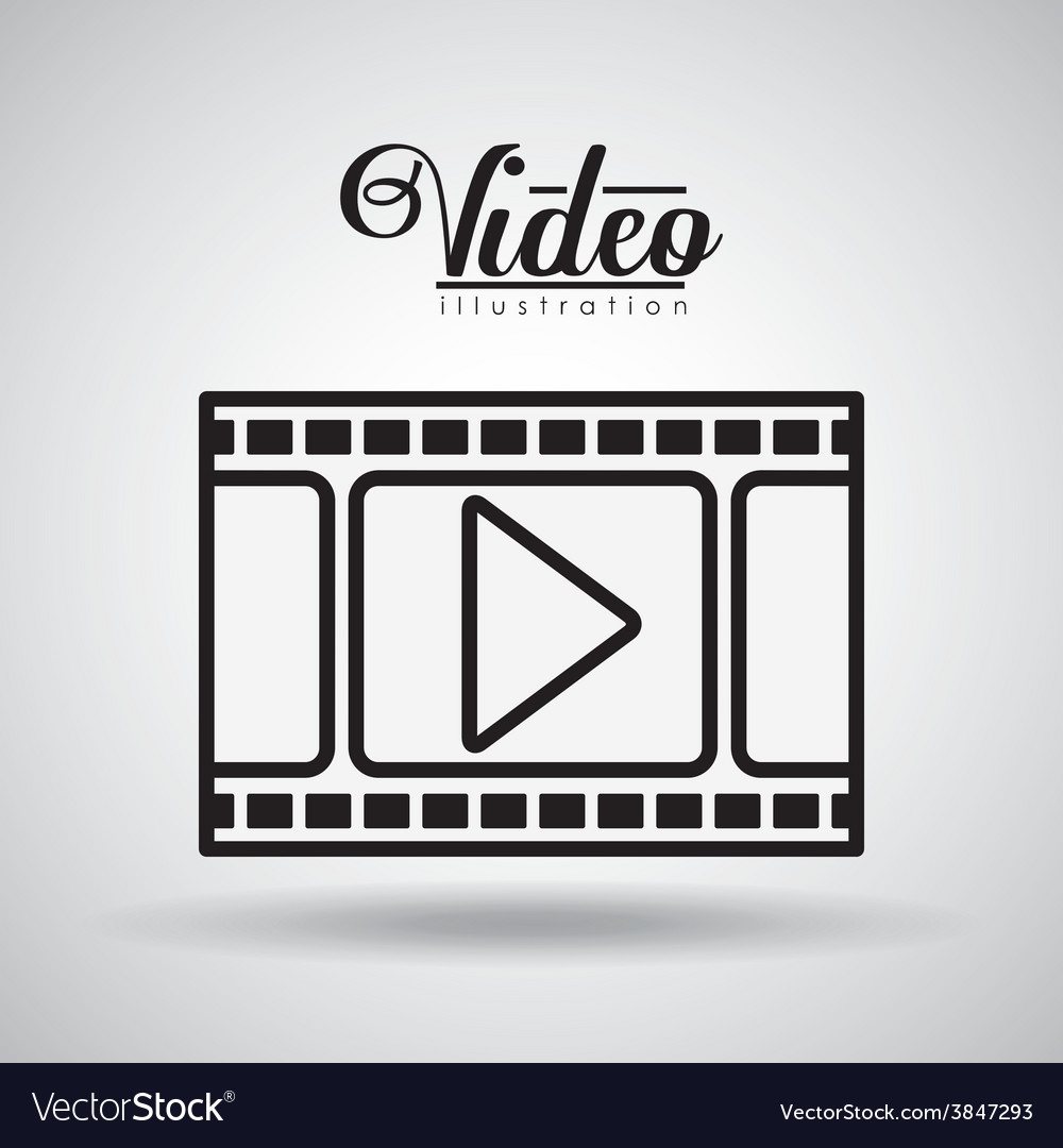 Video design vector | Price: 1 Credit (USD $1)
