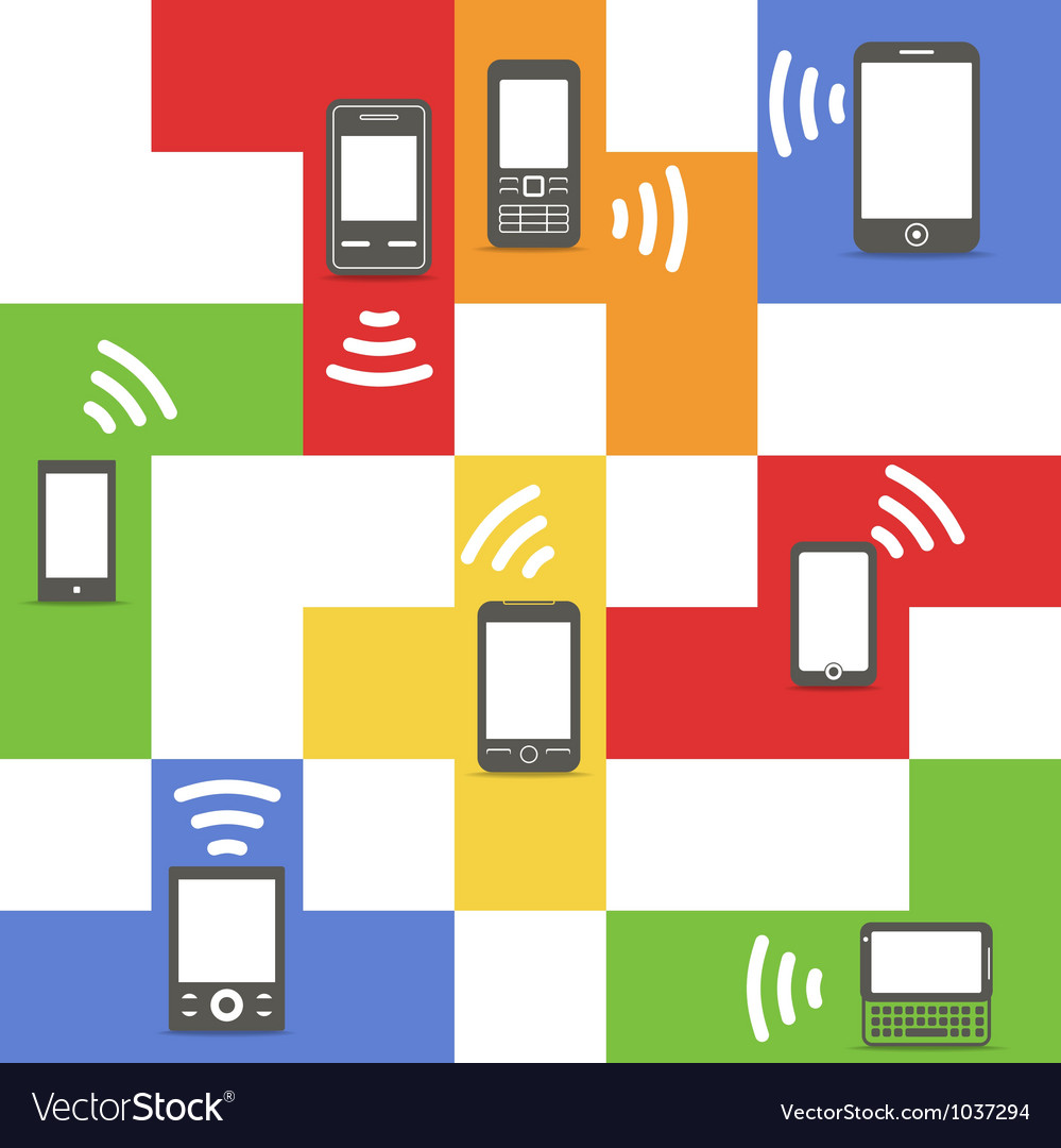 Abstract style modern and vintage mobile gadgets vector | Price: 1 Credit (USD $1)