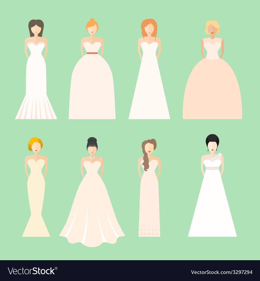Brids in wedding dresses vector | Price: 1 Credit (USD $1)