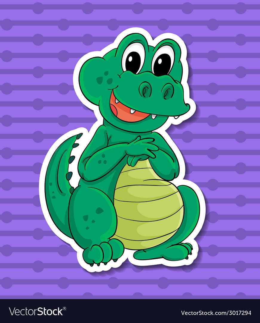 Crocodile vector | Price: 1 Credit (USD $1)