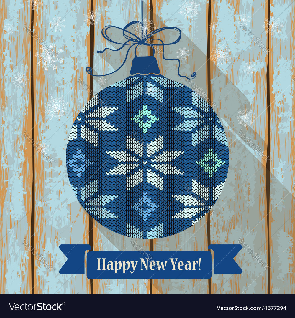 Knitted christmas ball with snowflakes vector | Price: 1 Credit (USD $1)