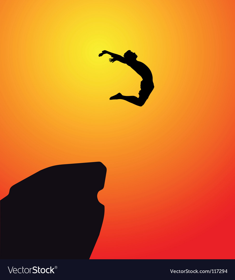 Leap of faith vector | Price: 1 Credit (USD $1)