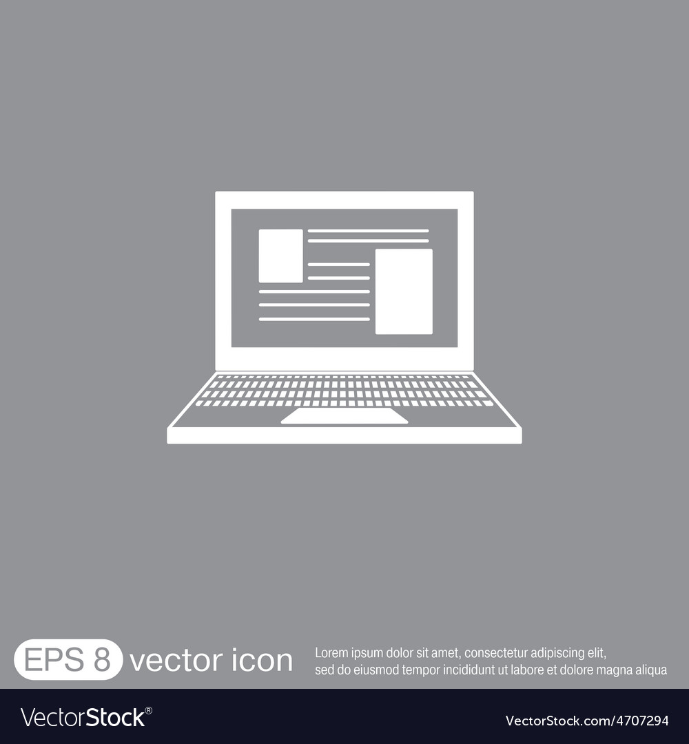Notebook laptop icon vector | Price: 1 Credit (USD $1)