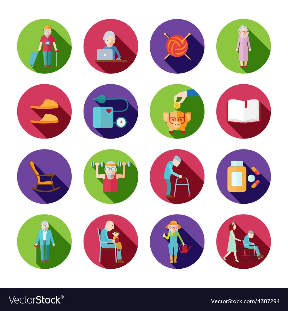 Senior lifestyle set vector | Price: 1 Credit (USD $1)