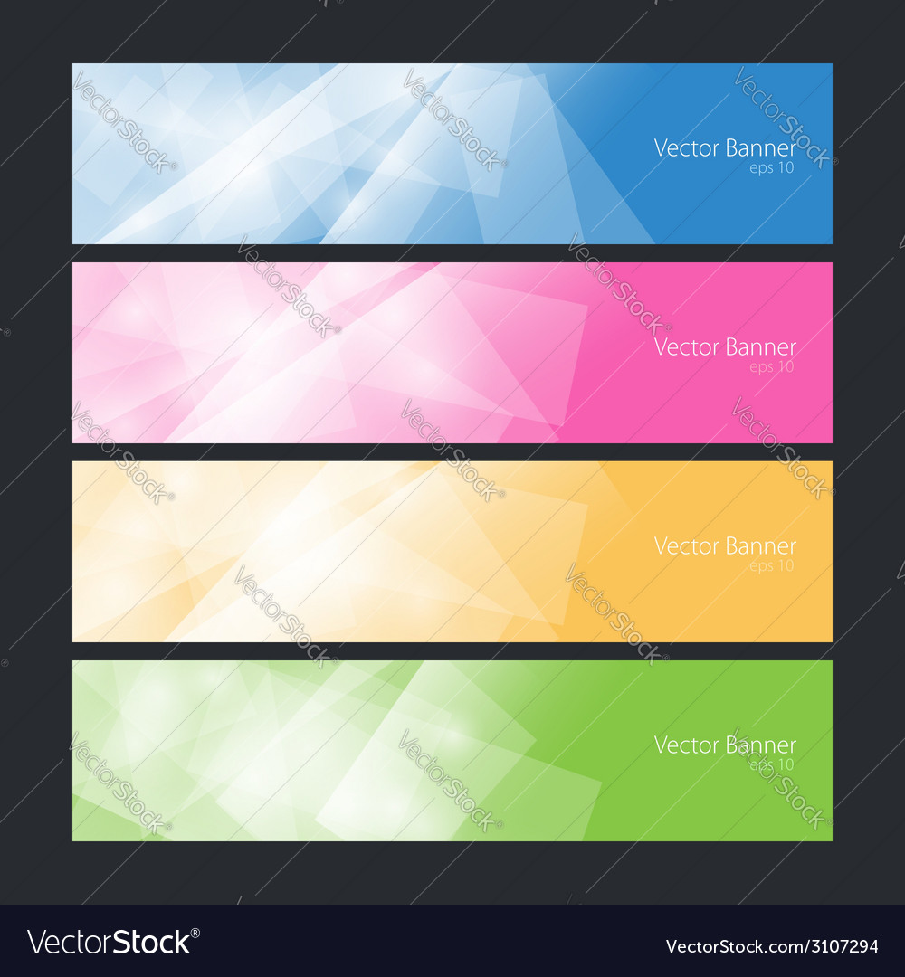 Set colorful polygonal banners vector | Price: 1 Credit (USD $1)