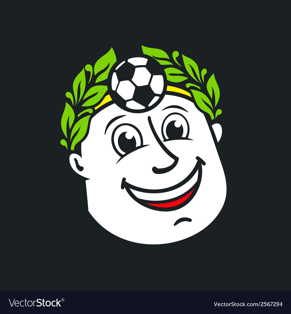Soccer god head sign vector | Price: 1 Credit (USD $1)