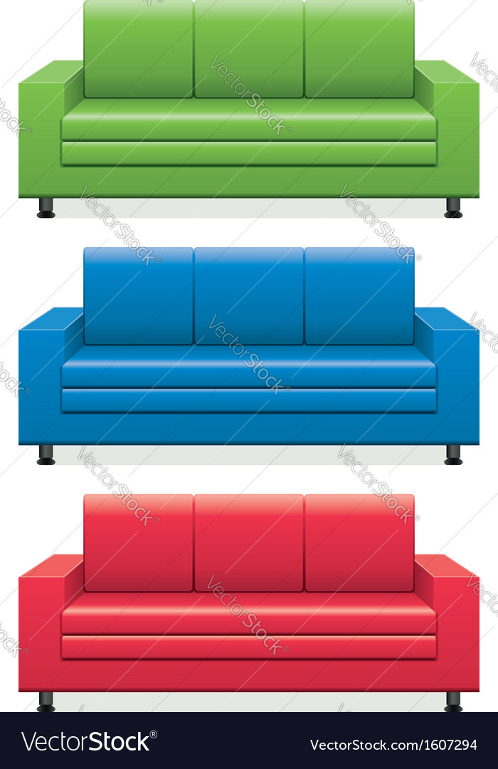 Sofas vector | Price: 1 Credit (USD $1)