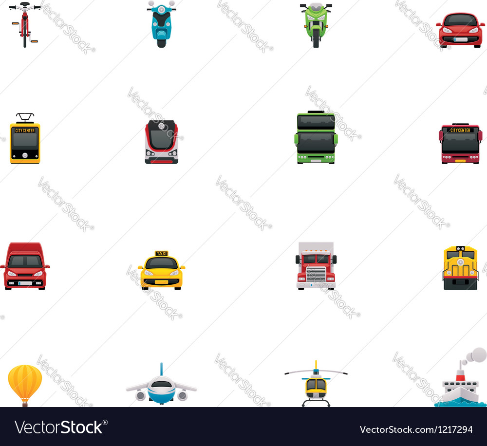 Transportation icon set vector | Price: 3 Credit (USD $3)