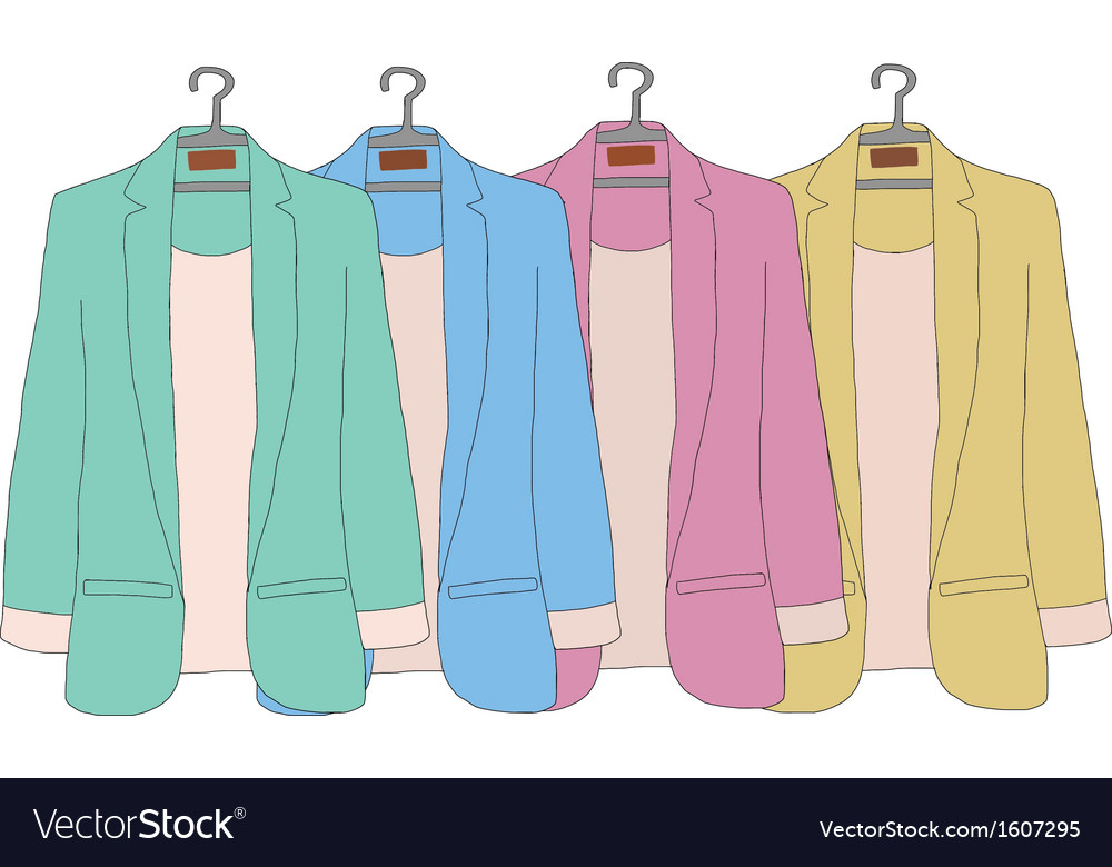 Colourful of women jacket vector | Price: 1 Credit (USD $1)