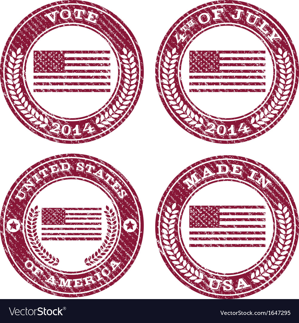 Grunge patriotic flag emblems vector | Price: 1 Credit (USD $1)