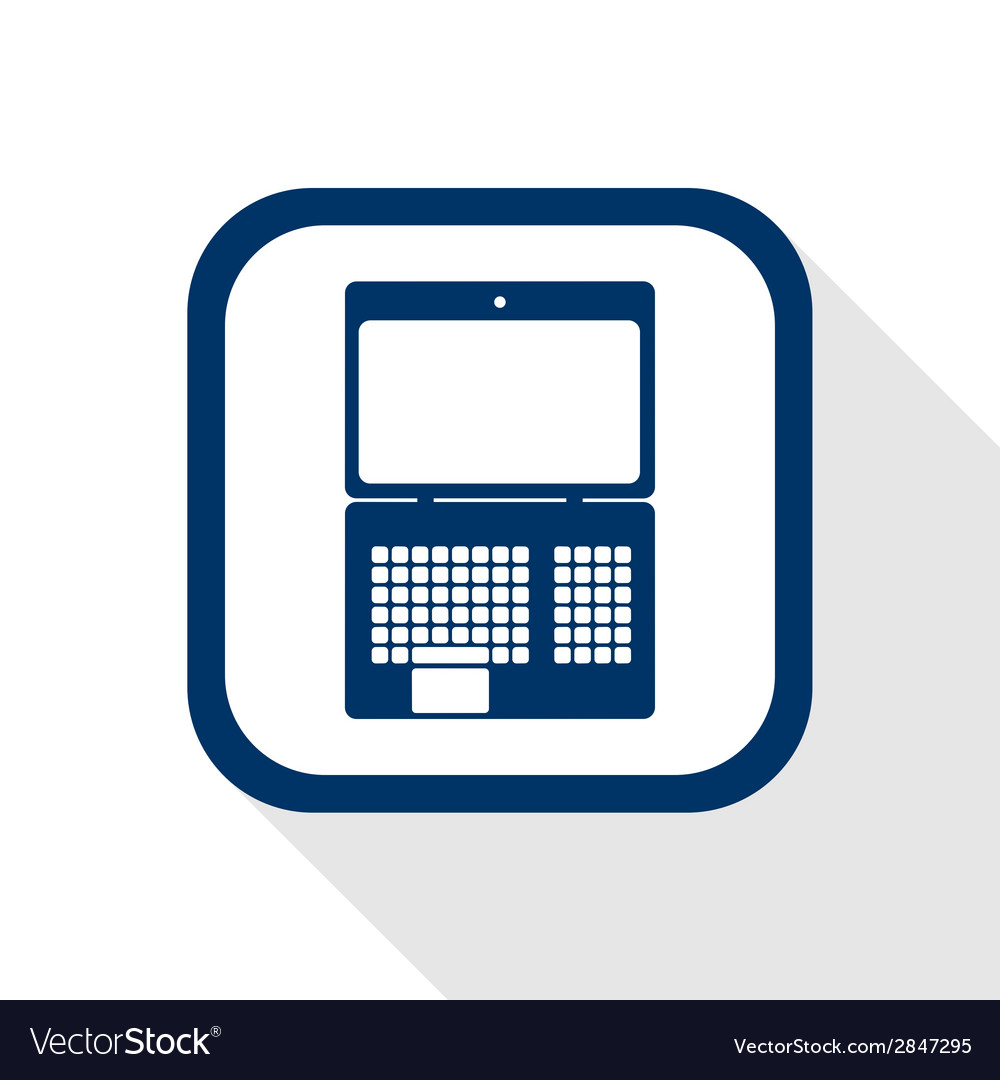 Laptop flat icon vector | Price: 1 Credit (USD $1)
