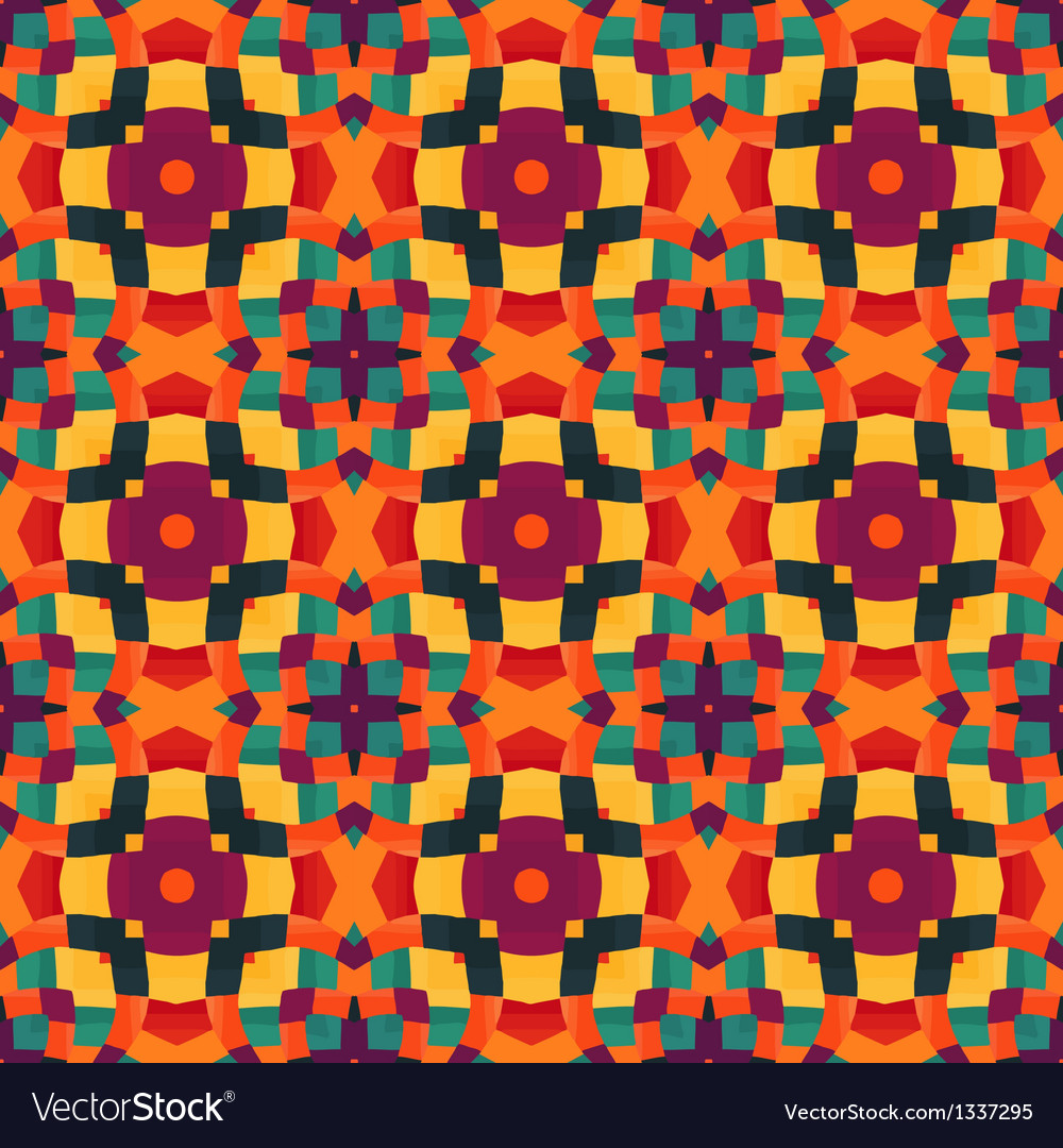 Mosaic pattern background vector   Price: 1 Credit (USD $1)