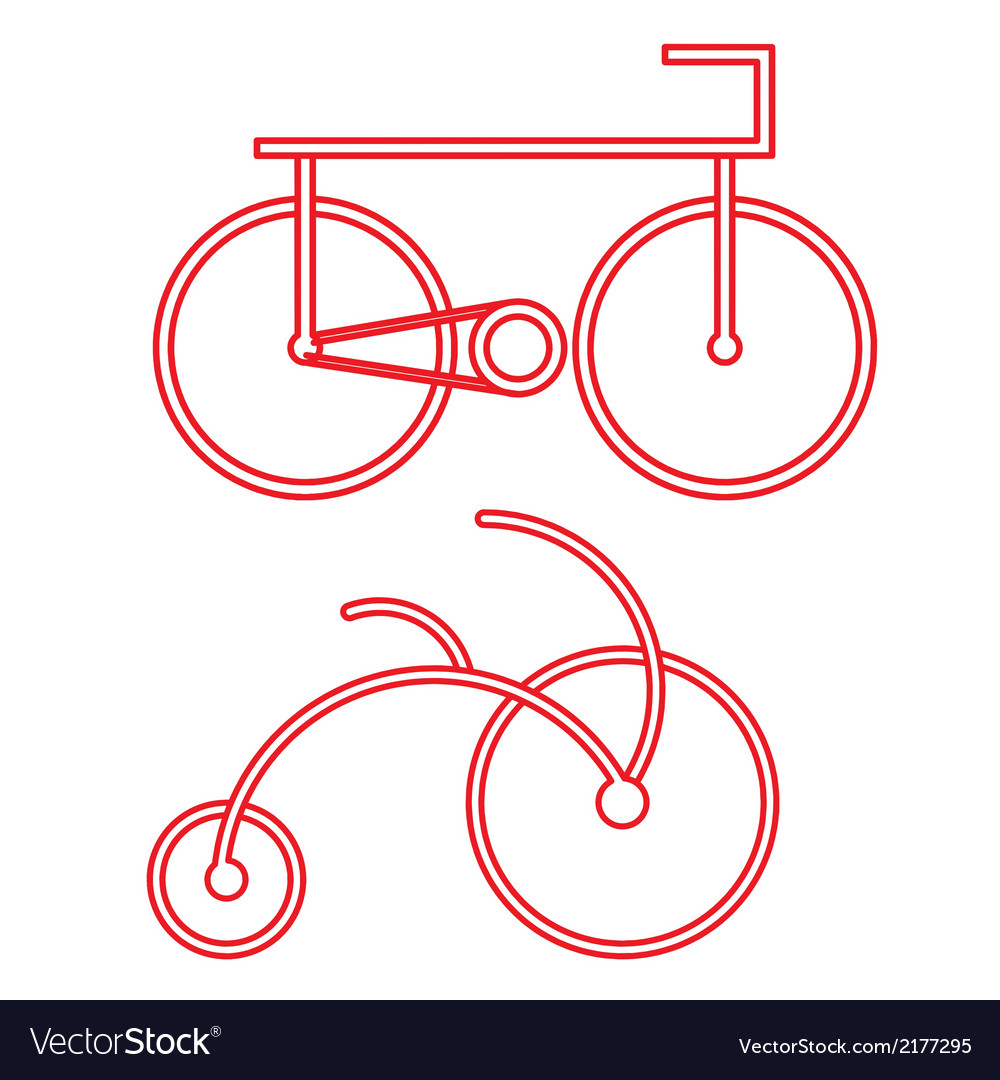 Red bicycle symbol vector | Price: 1 Credit (USD $1)