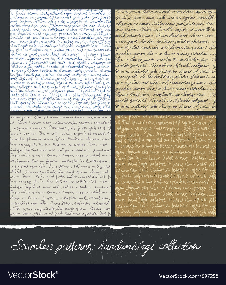 Seamless pattern handwritings collection abstract vector | Price: 1 Credit (USD $1)