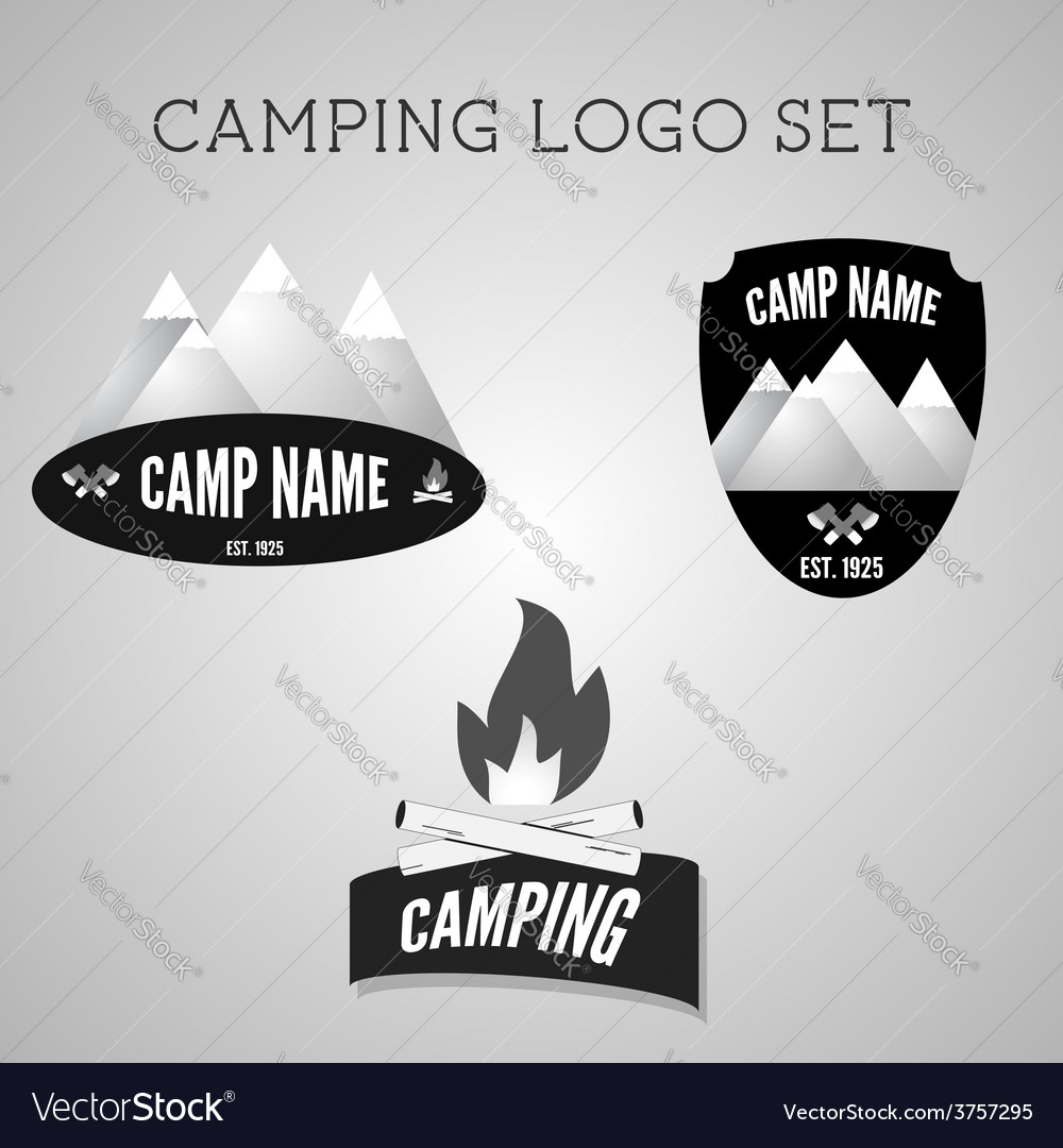Set of silver outdoor adventure badges and vector | Price: 1 Credit (USD $1)