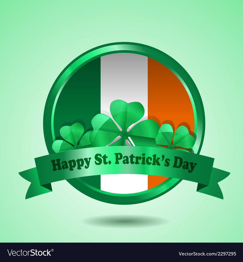 St patrick badge vector | Price: 1 Credit (USD $1)