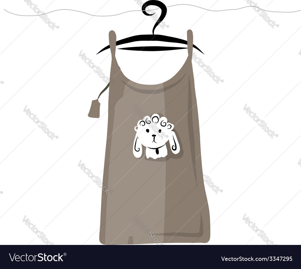 Top on hangers with funny sheep design vector | Price: 1 Credit (USD $1)